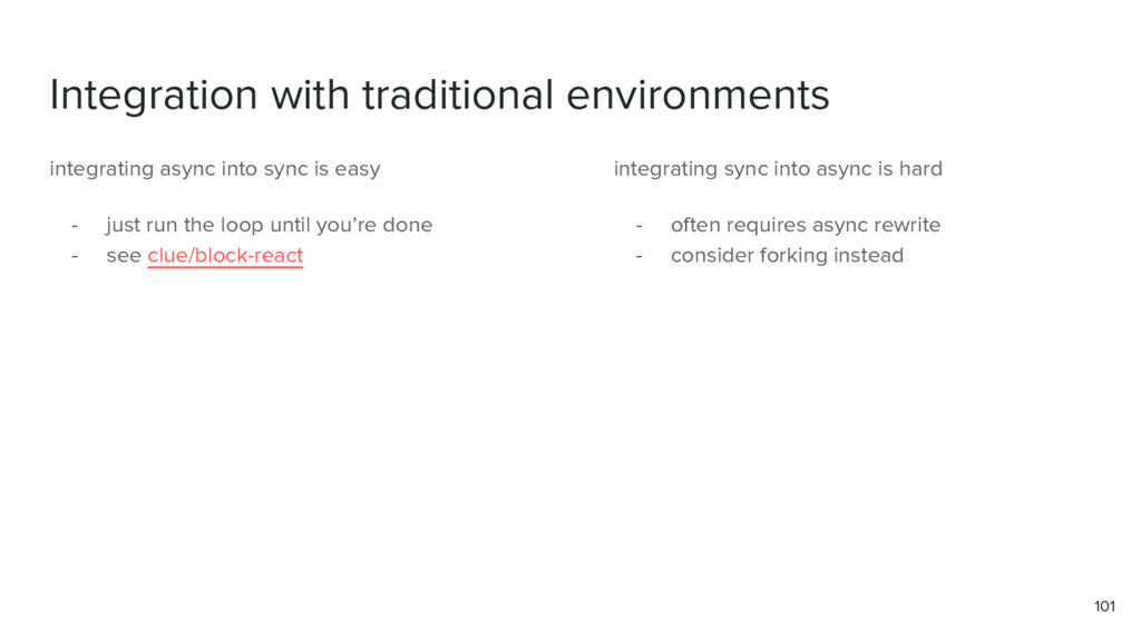 Integration with traditional environments 101 i...