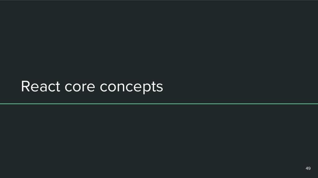React core concepts 49