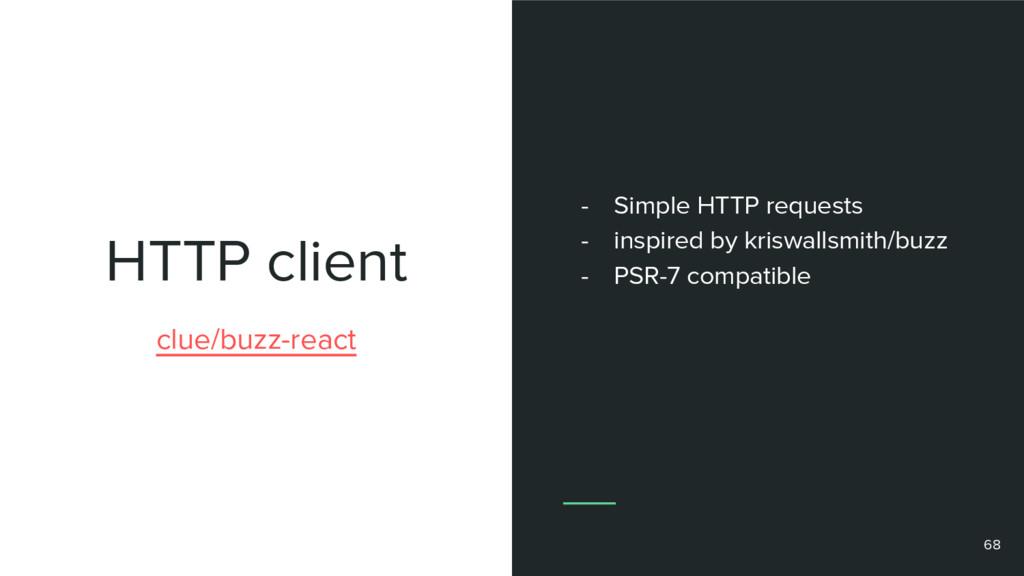 HTTP client 68 clue/buzz-react - Simple HTTP re...