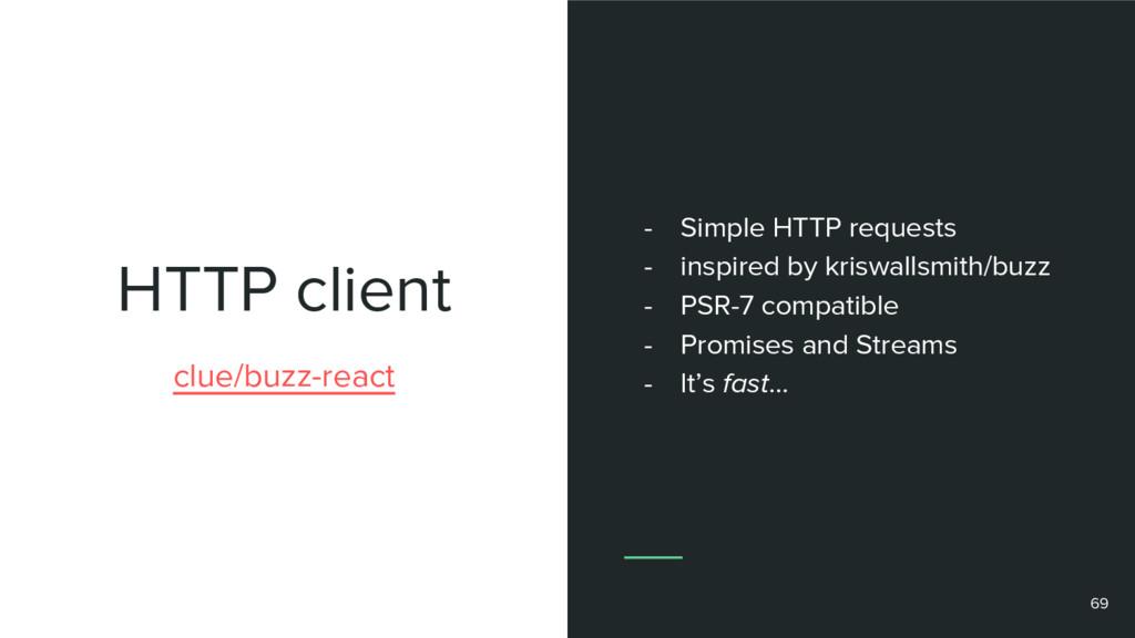 HTTP client 69 clue/buzz-react - Simple HTTP re...