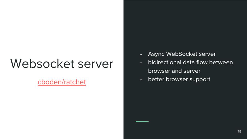 Websocket server cboden/ratchet - Async WebSock...