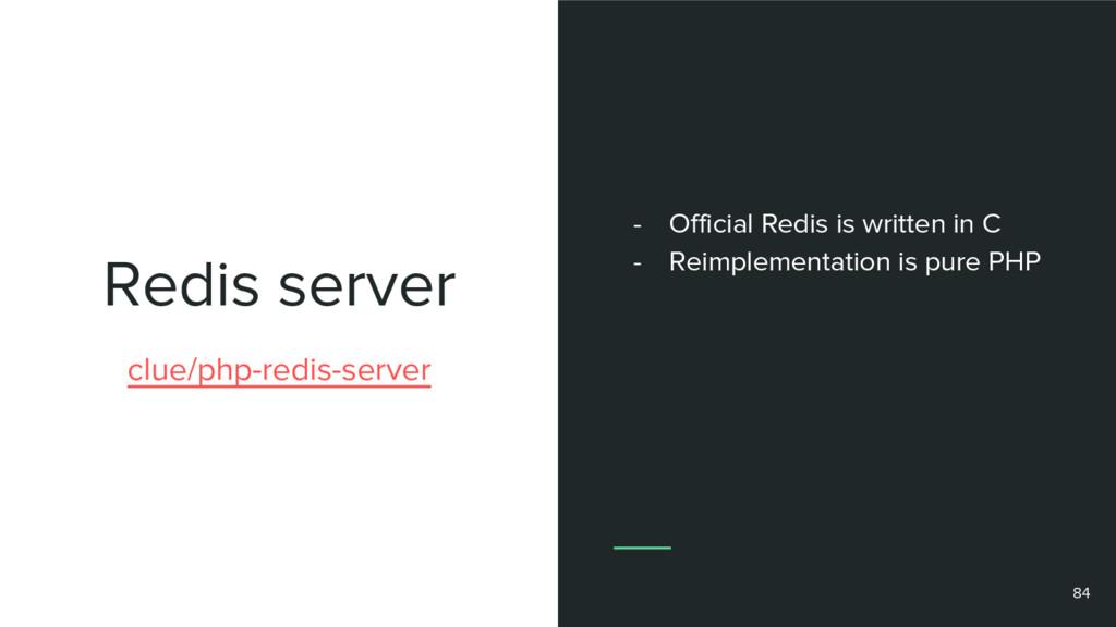 Redis server 84 clue/php-redis-server - Officia...