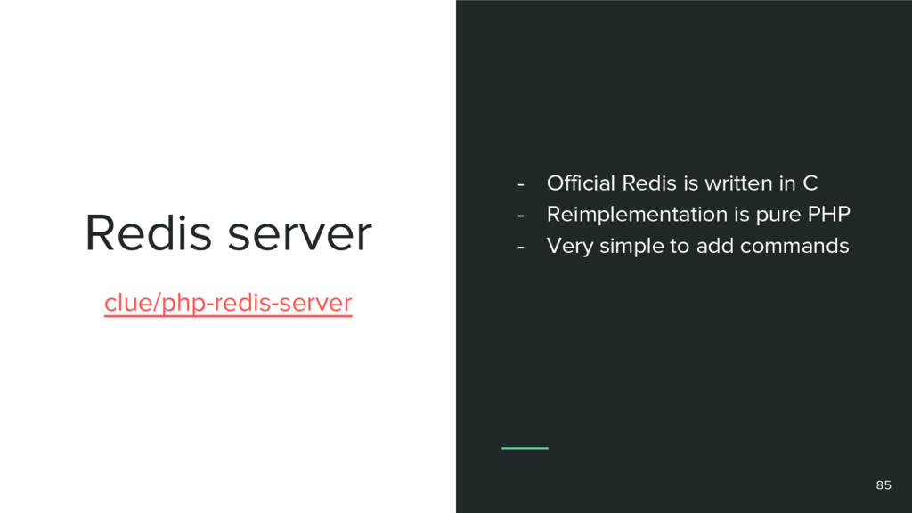 Redis server 85 clue/php-redis-server - Officia...