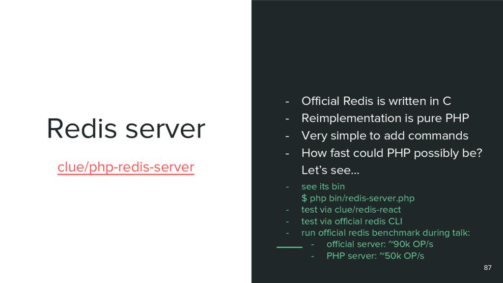 Redis server 87 clue/php-redis-server - Officia...