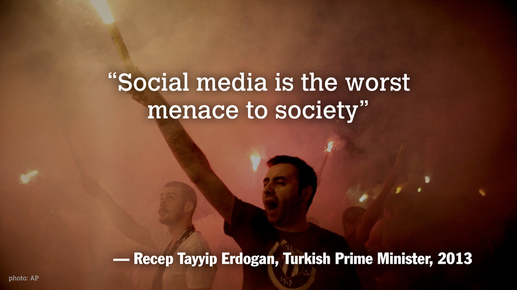 """photo: AP """"Social media is the worst menace to ..."""