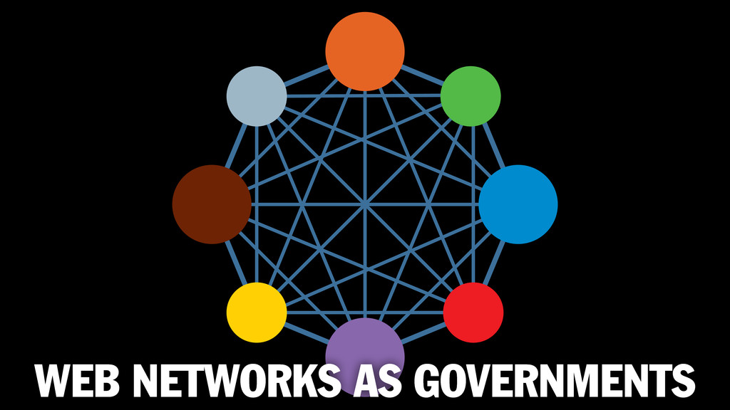 WEB NETWORKS AS GOVERNMENTS