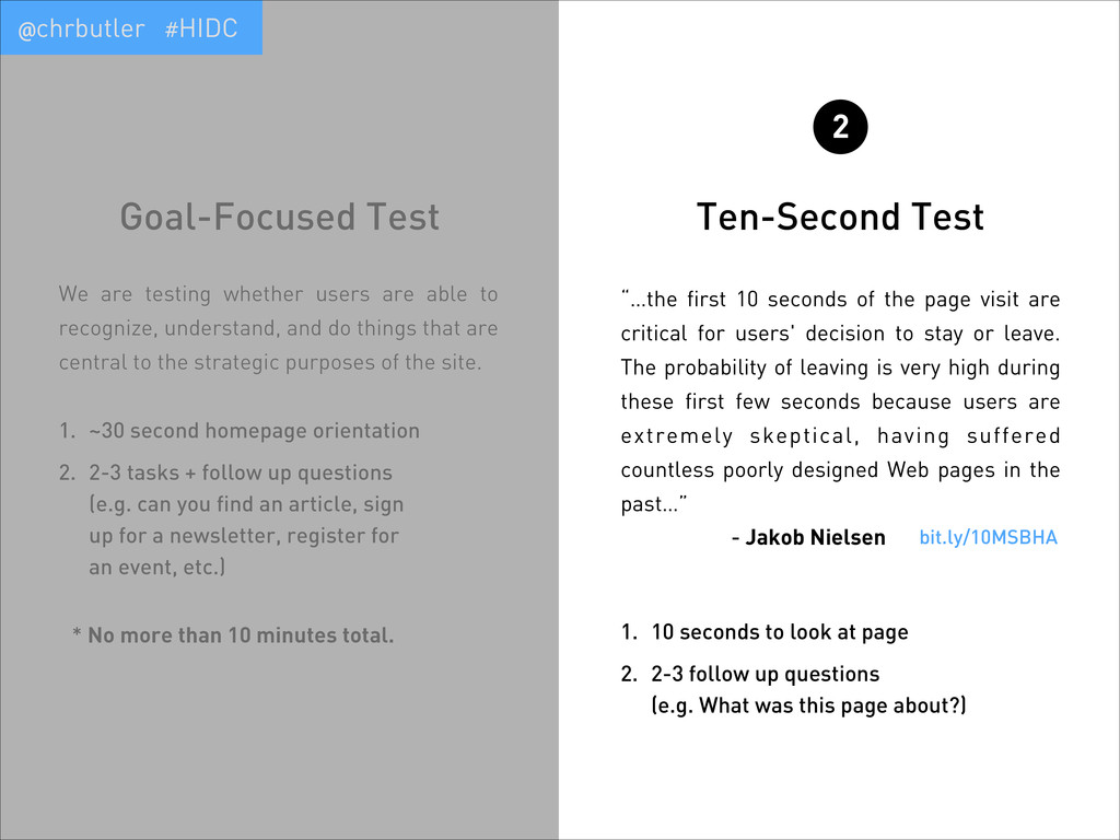 "Ten-Second Test 2 ""…the first 10 seconds of the..."