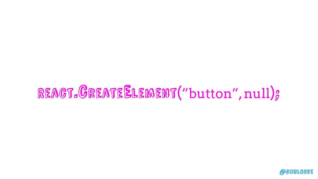 "@gurlcode React.createElement(""button"", null);"