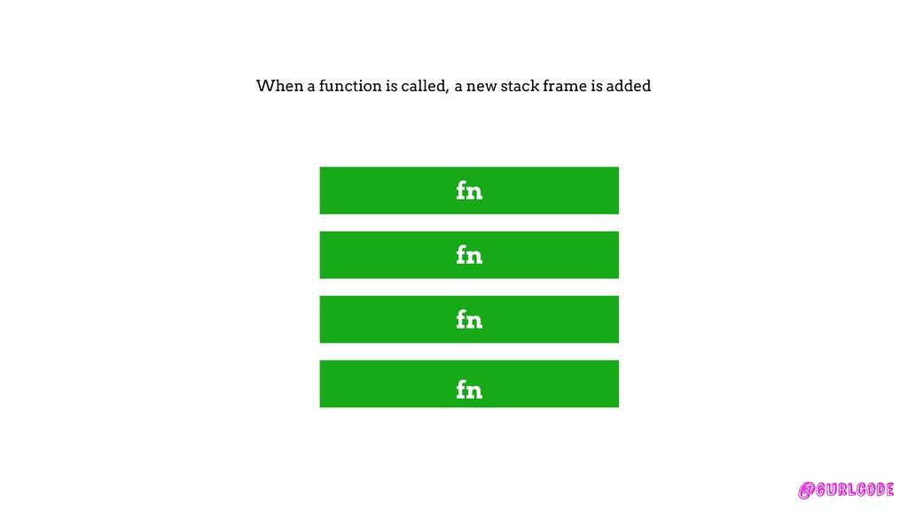 @gurlcode fn fn fn fn When a function is called...