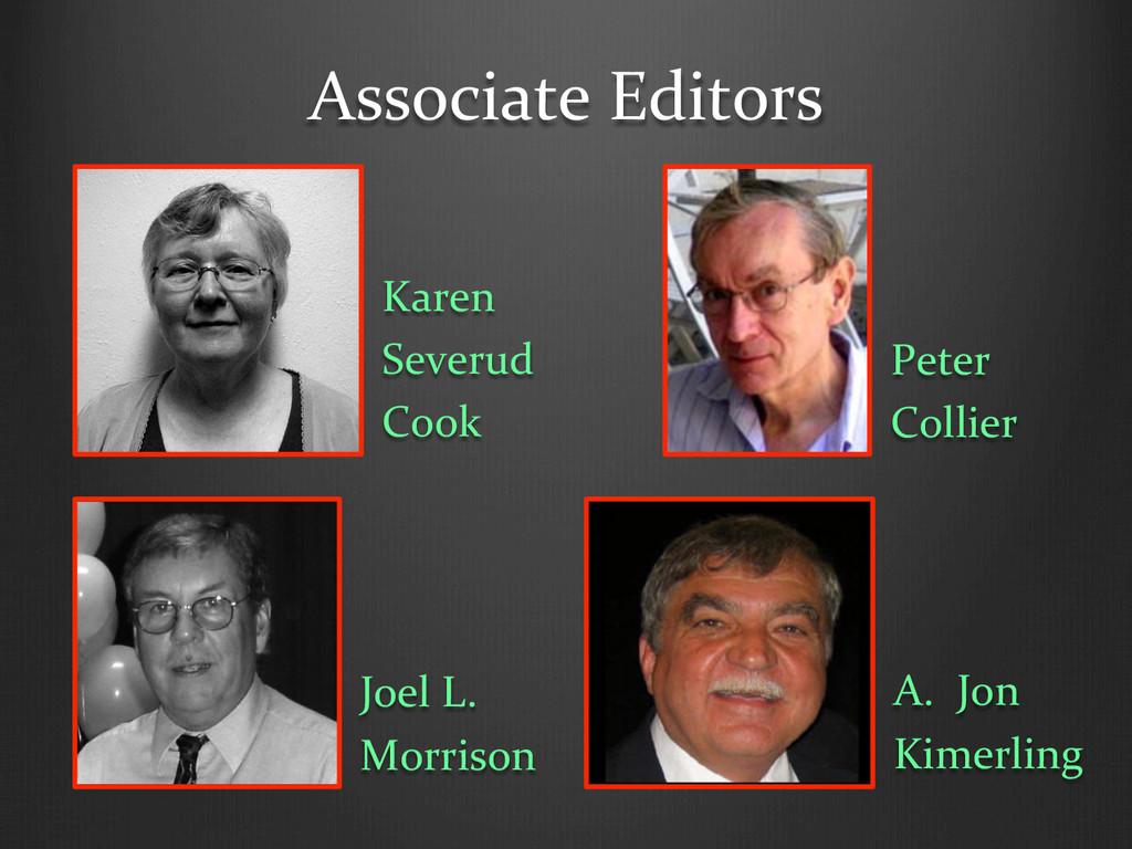 Associate Editors  Karen  Severud  ...