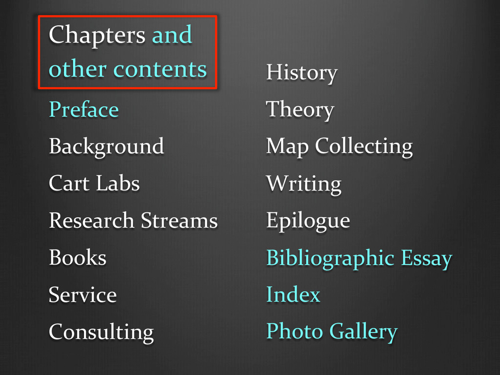 Chapters and  other contents  Prefa...