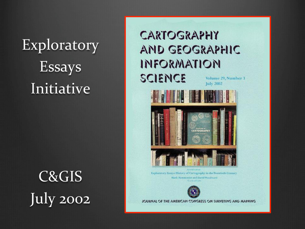 C&GIS  July 2002  Exploratory ...
