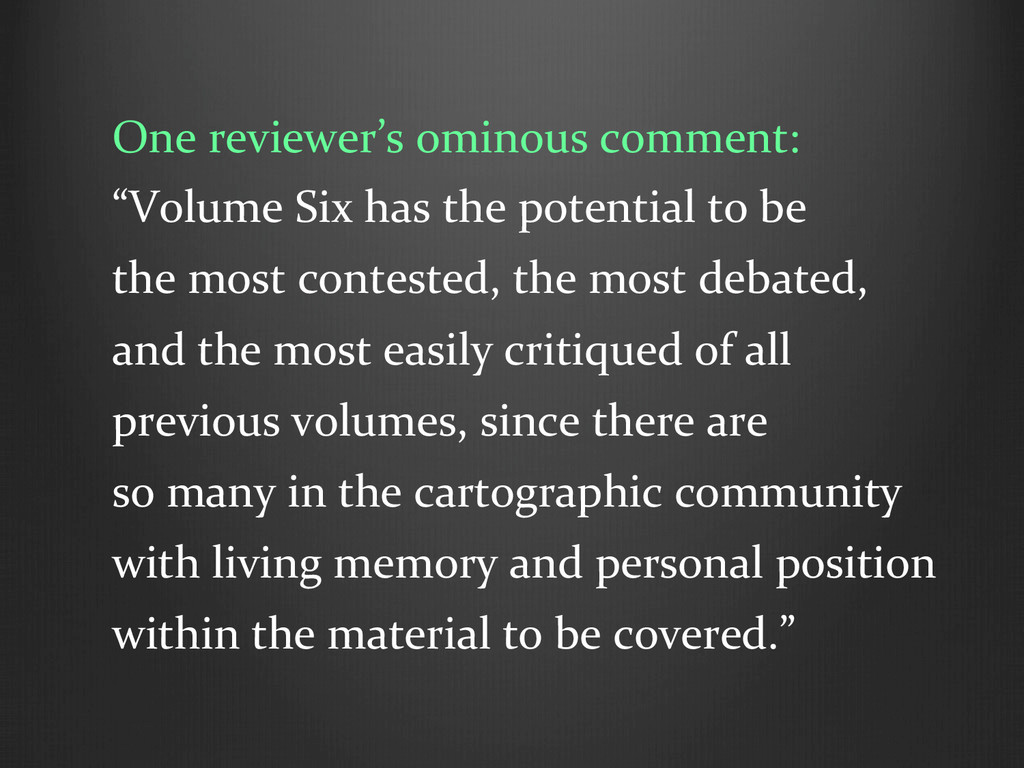 """One reviewer's ominous comment:  """"V..."""