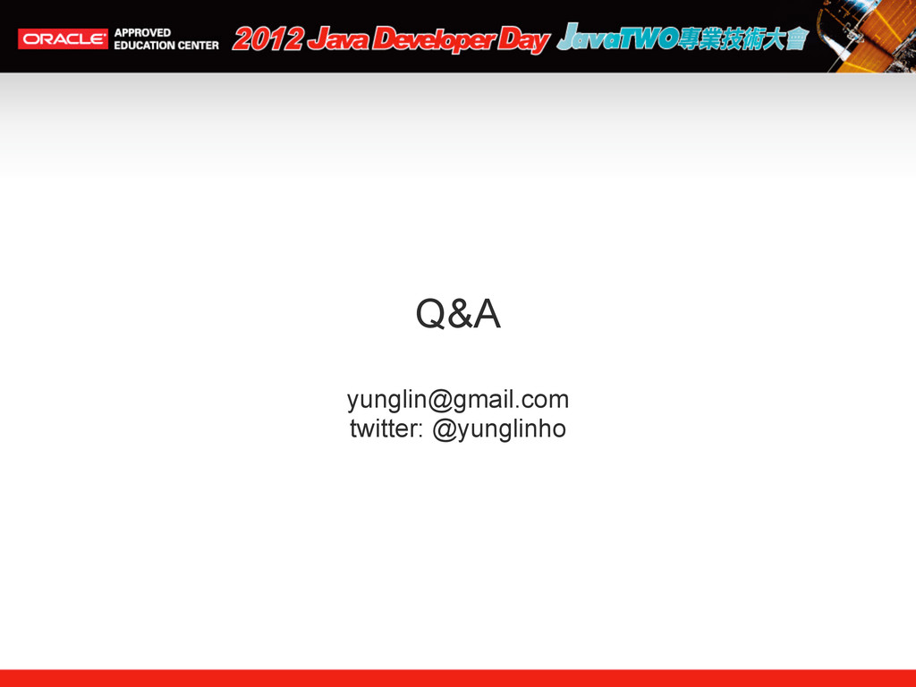 Q&A yunglin@gmail.com twitter: @yunglinho