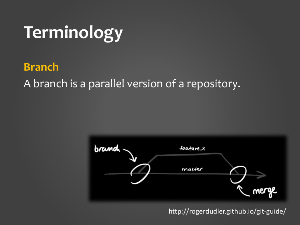 Terminology Branch A branch is a parallel versi...