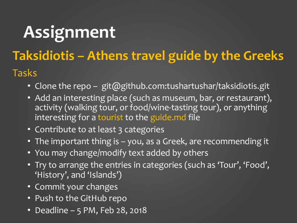 Assignment Taksidiotis – Athens travel guide by...