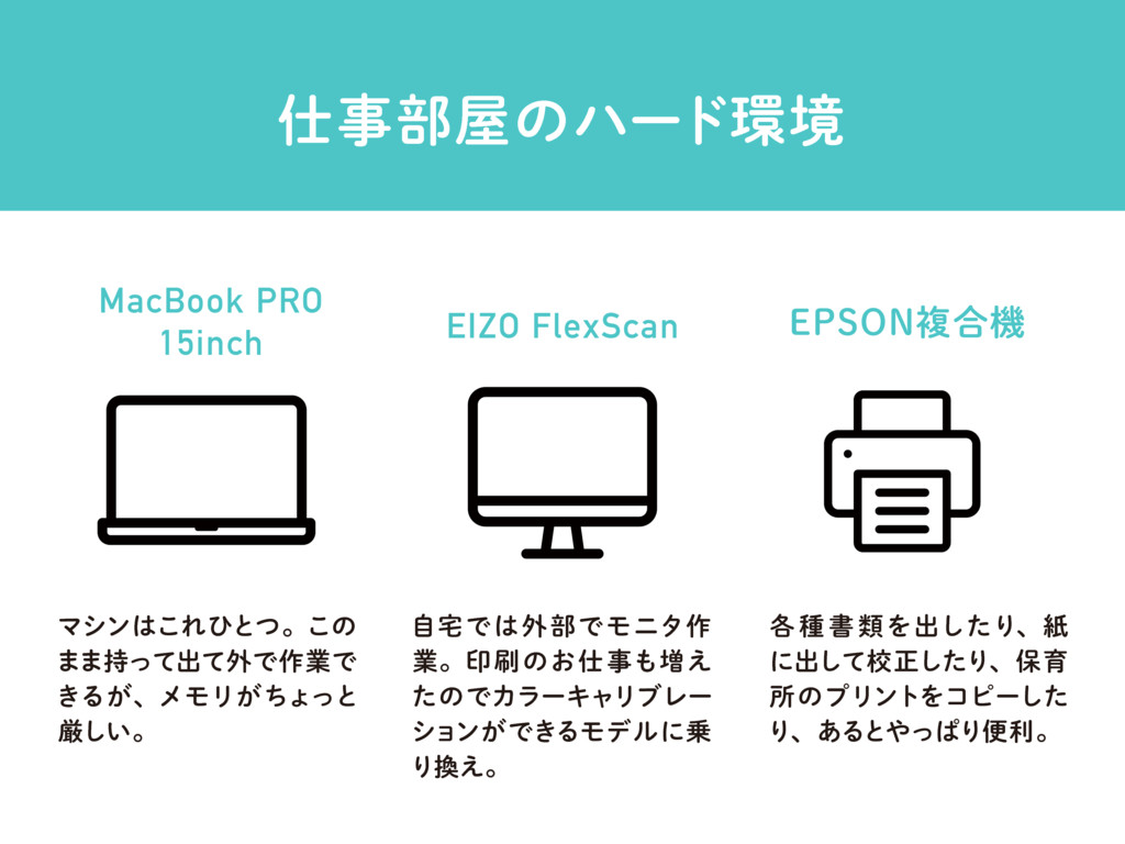 ࢓ࣄ෦԰ͷϋʔυ؀ڥ MacBook PRO 15inch EIZO FlexScan &14...