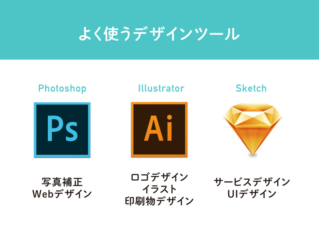 Α͘࢖͏σβΠϯπʔϧ Photoshop Illustrator Sketch ࣸਅิਖ਼ 8...