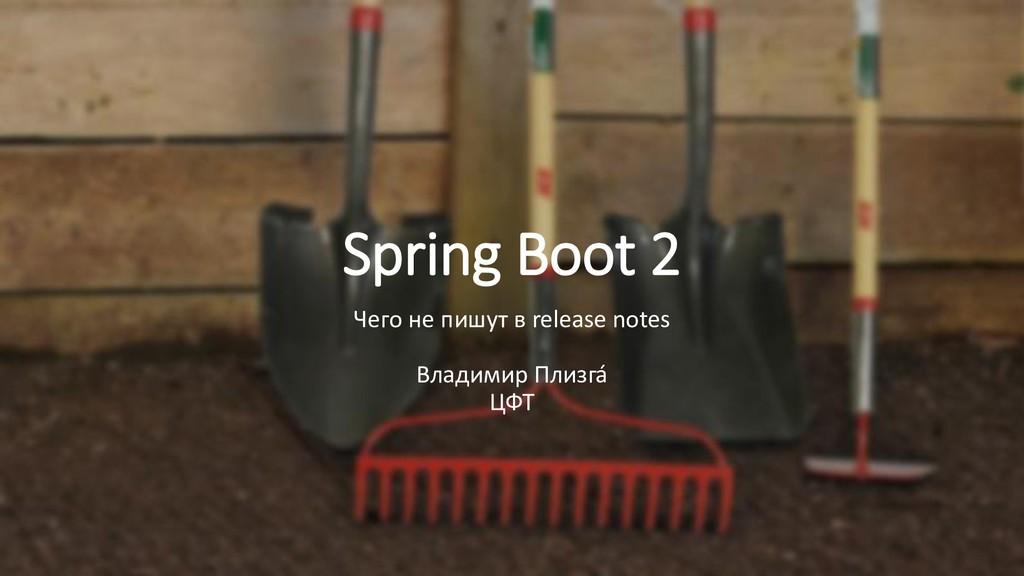 Spring Boot 2 Чего не пишут в release notes Вла...