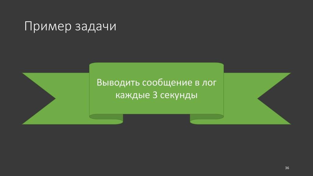 Пример задачи Выводить сообщение в лог каждые 3...