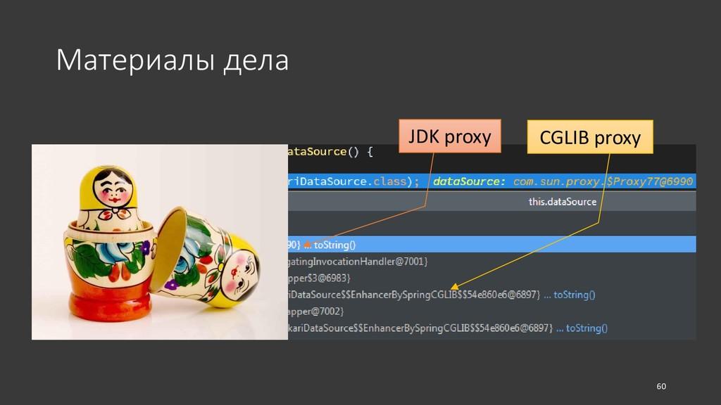 Материалы дела 60 JDK proxy CGLIB proxy
