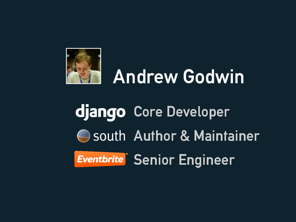Andrew Godwin Core Developer Senior Engineer Au...