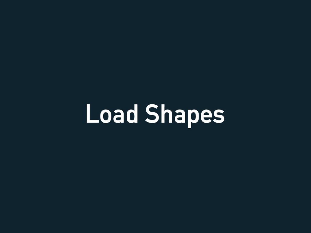 Load Shapes