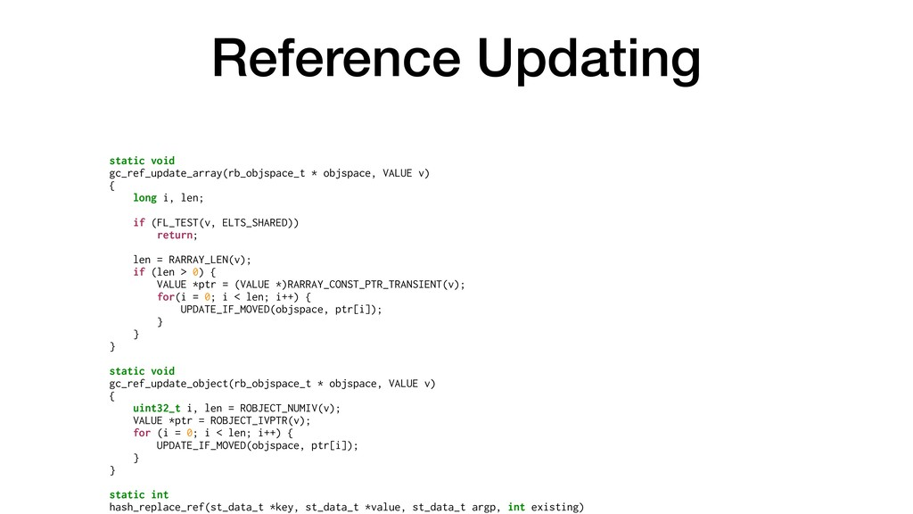Reference Updating static void gc_ref_update_ar...