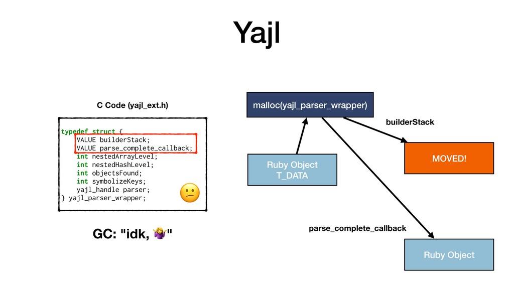 Yajl typedef struct { VALUE builderStack; VALUE...