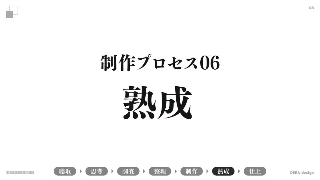 DERA-design 08 ௌऔ ௐࠪ ཧ ੍࡞ ख़ ্ ࢥߟ ख़ ੍࡞ϓϩηε