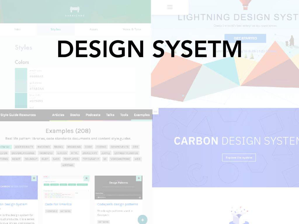 DESIGN SYSETM
