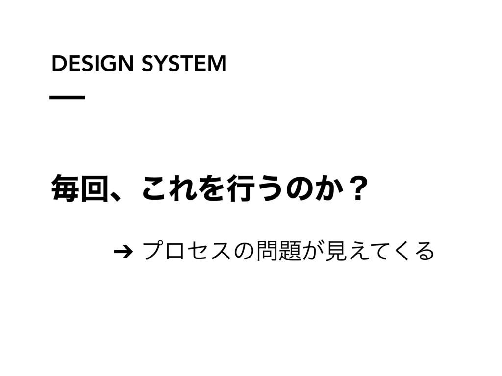 DESIGN SYSTEM ຖճɺ͜ΕΛߦ͏ͷ͔ʁ ➔ ϓϩηεͷ͕ݟ͑ͯ͘Δ
