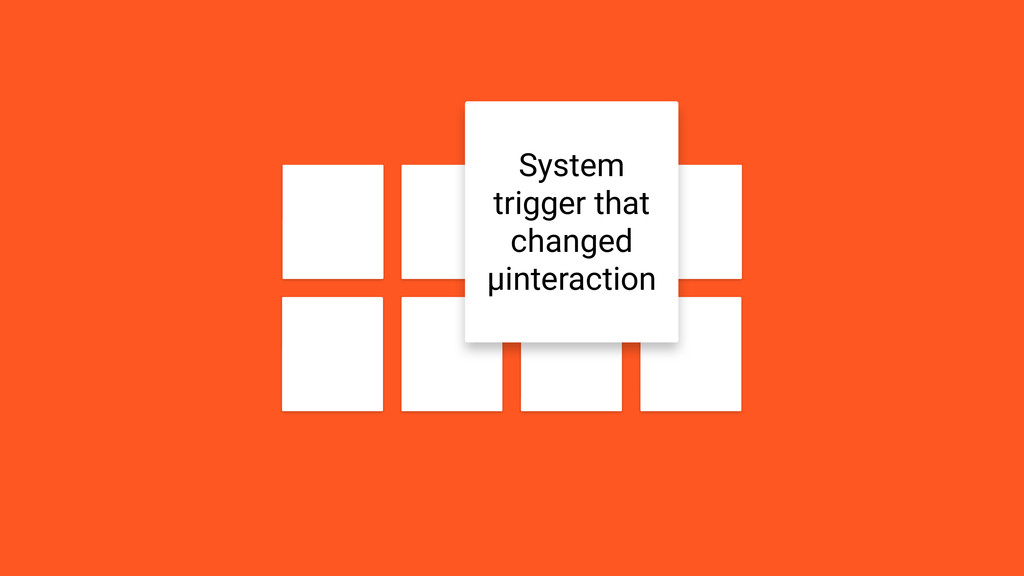 Feedback When should/could occur? System trigge...