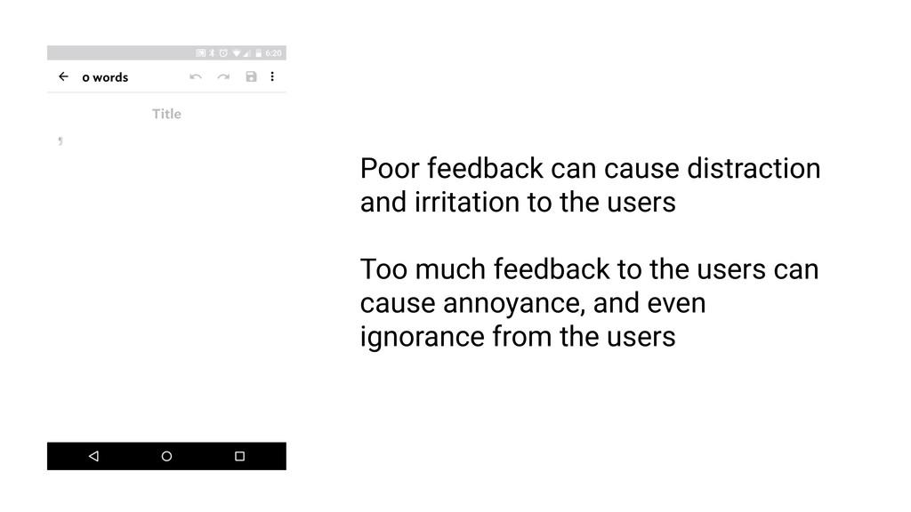 Feedback must be intelligible RULE 1 Poor feedb...