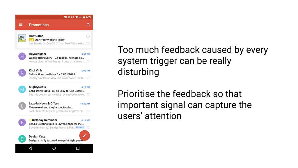 Feedback must be intelligible RULE 1 Too much f...