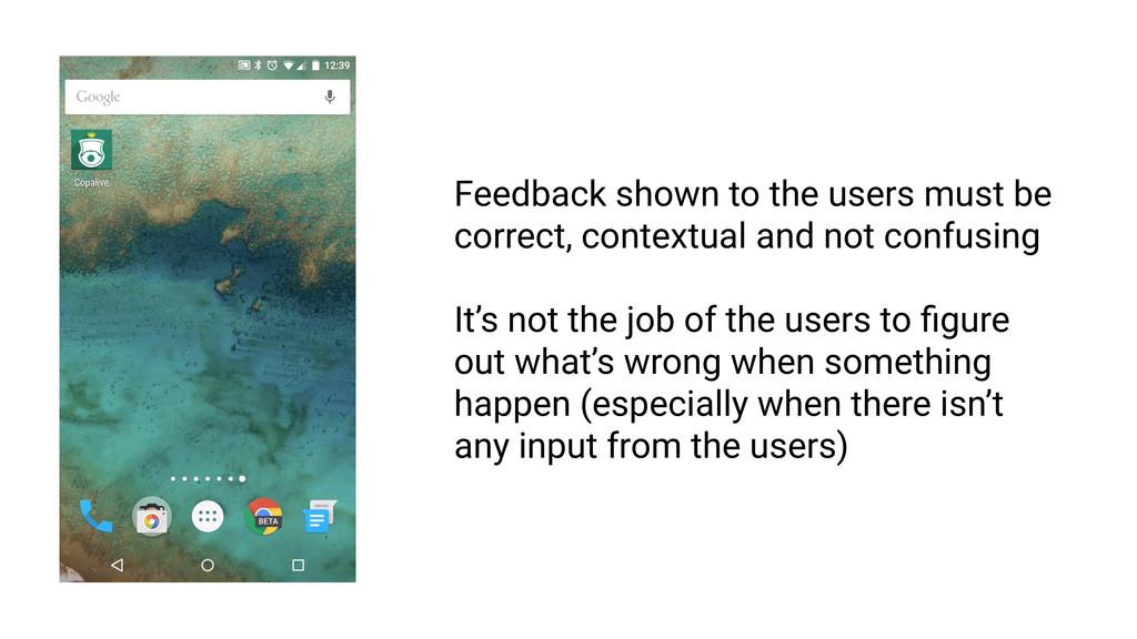 Feedback must be intelligible RULE 1 Feedback s...