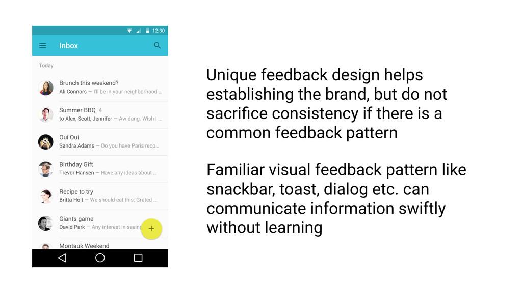 Feedback must be intelligible RULE 1 Feedback U...
