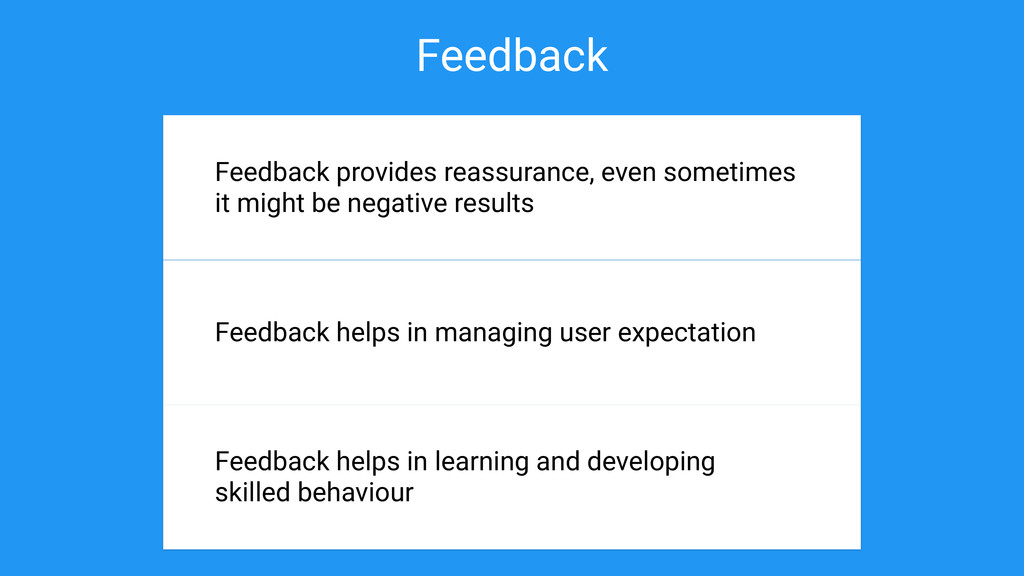 Feedback Why is important? Feedback provides re...