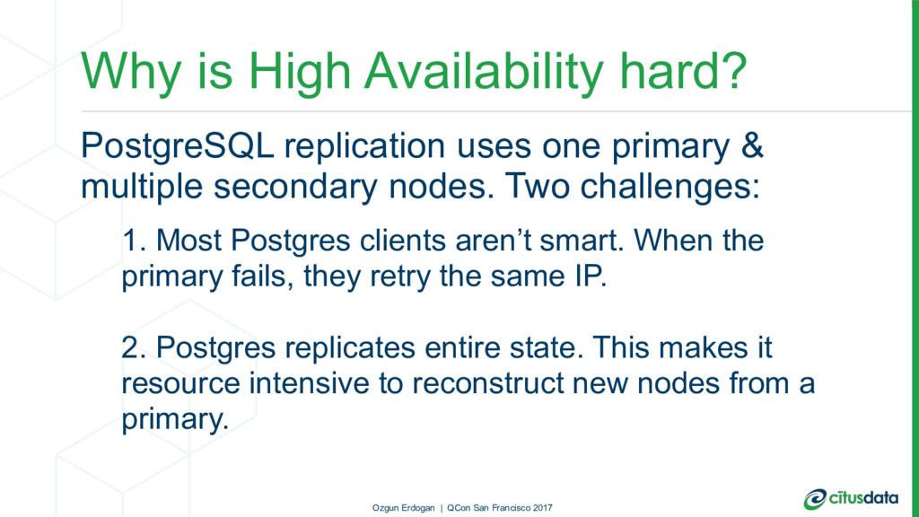 Why is High Availability hard? PostgreSQL repli...