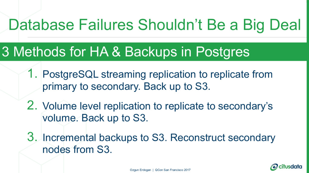Database Failures Shouldn't Be a Big Deal 1. Po...