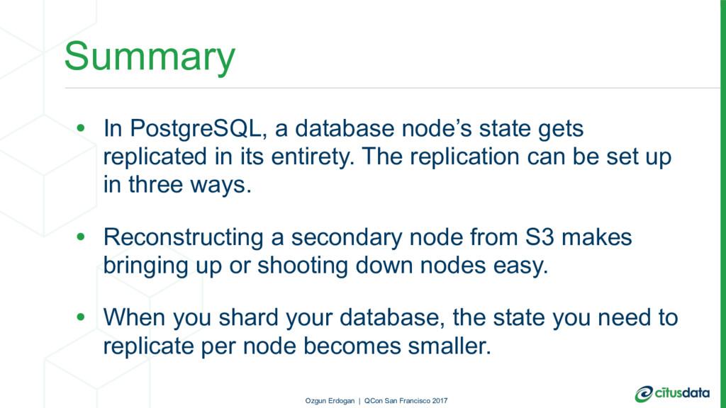 Summary • In PostgreSQL, a database node's stat...