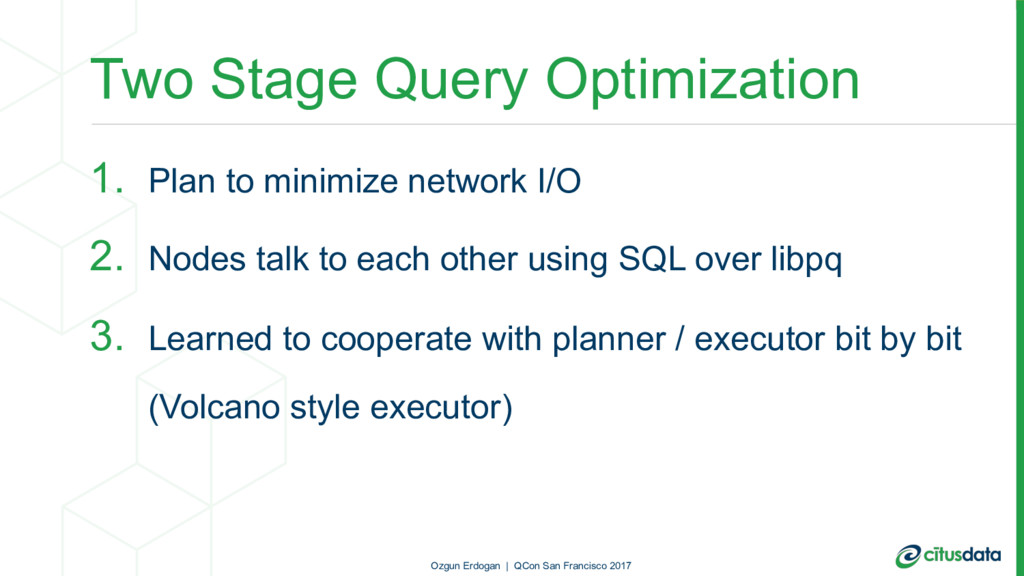 Two Stage Query Optimization 1. Plan to minimiz...
