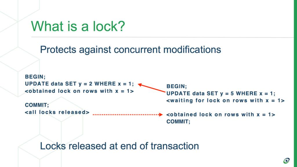 Transactions Block on 1st Conflicting Lock