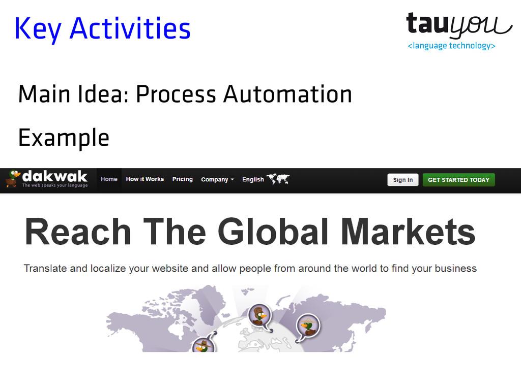 Key Activities Main Idea: Process Automation Ex...