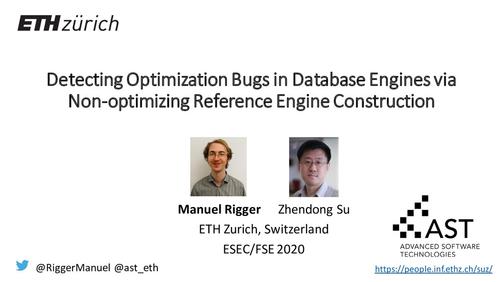 Detecting Optimization Bugs in Database Engines...