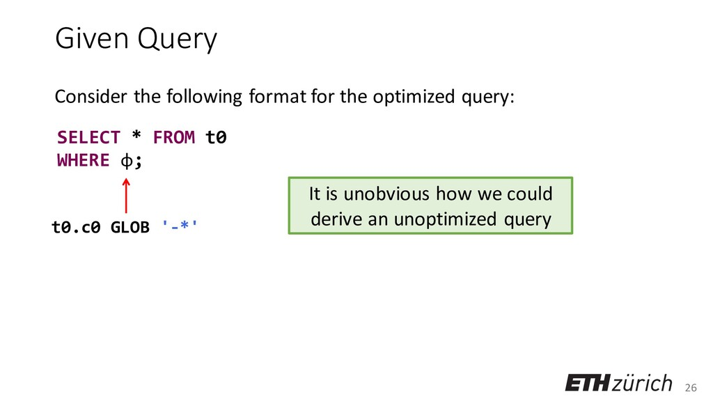 26 Given Query Consider the following format fo...