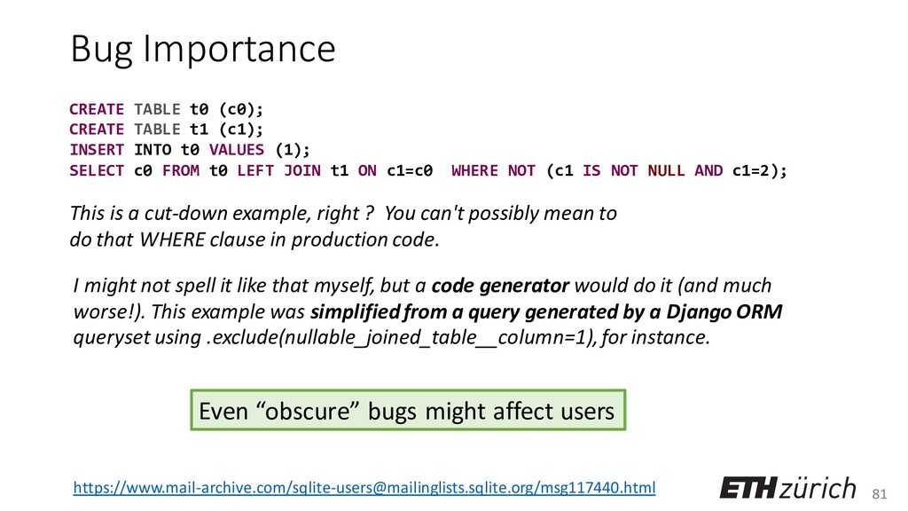 81 Bug Importance I might not spell it like tha...