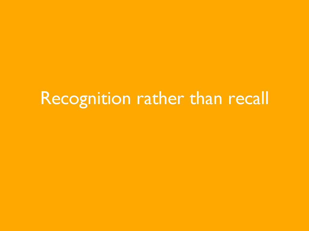 Recognition rather than recall