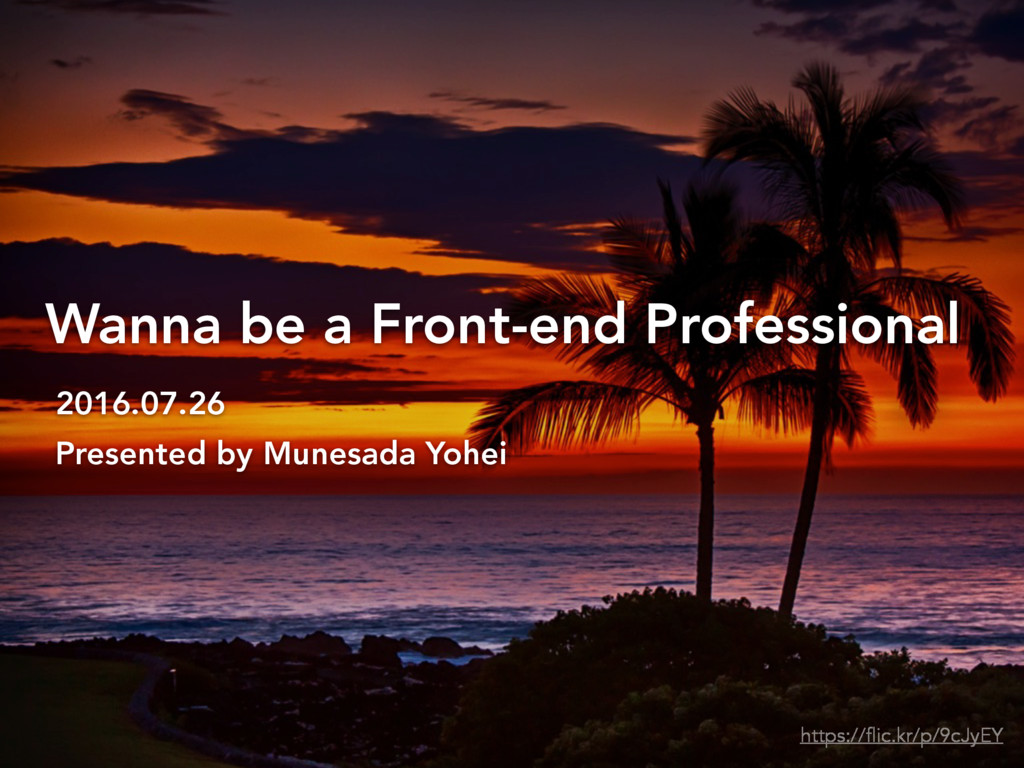 Wanna be a Front-end Professional 2016.07.26 Pr...