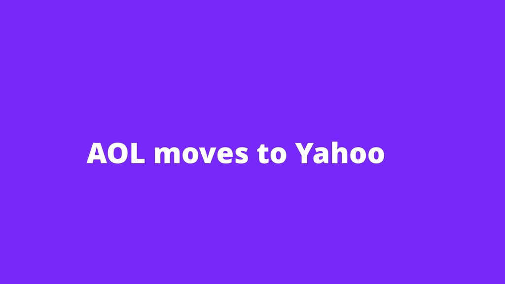 AOL moves to Yahoo
